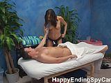 Cute Teen Seduces Client with Massage