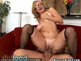 Big titty english teacher fucks her student in the office