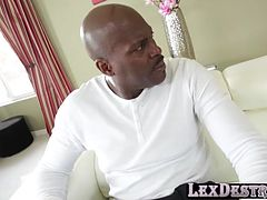 Hot Capri goes casting with Lex on movie gets destroyed by monster cock