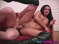 Super fisting ass slut load