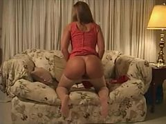 Milf plays with herself and gets facial