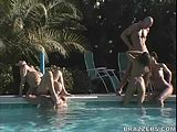 Orgy at the Pool!