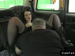 She rides huge cock