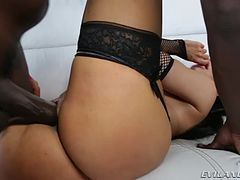 Busty Amy Anderssen gets DP by Lexington and his friend